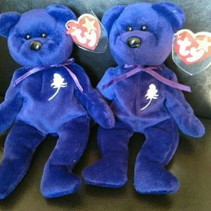 Other - Two (2) 1997 Beanie Babies Princess Diana Original